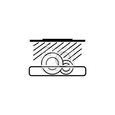 Favorit Geschirrspüler-symbol. elemente waschen. grafikdesignikone der HW07