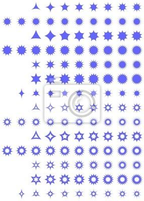 Geschwungene Sterne Sammlung