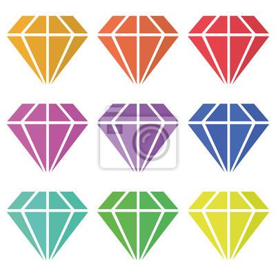 Bild Gesetzt Diamanten Vektor