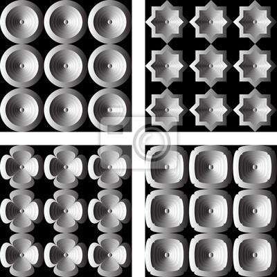 Gestalten Sie nahtlose monochrome Muster