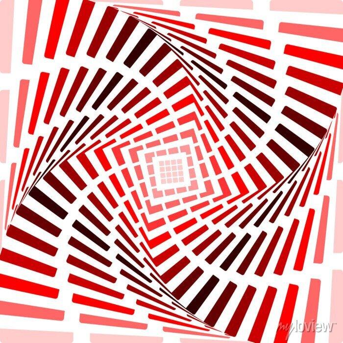 Bild Gestalten Sie rot rotation Bewegung Illusion Hintergrund. Abstrakt Streifen