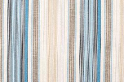 Bild Gestreiftes blaues und braunes Textilmuster als Hintergrund. Close up auf verschiedenen vertikalen Streifen Material Textur Stoff.