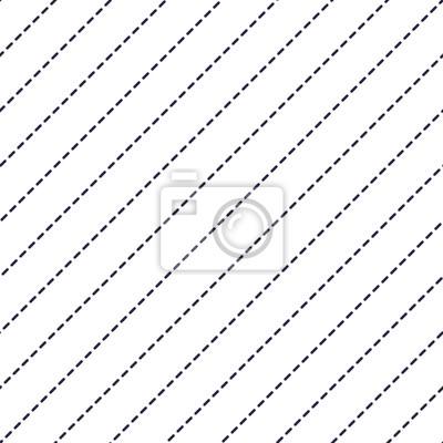 Gestrichelte Linien minimal Vektor nahtlose Muster, abstrakten Hintergrund. Einfaches geometrisches Design. Diagonal parallele Streifen. Einfarbig, schwarz und weiß.