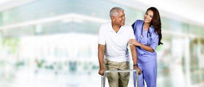 Bild Gesundheitspflege-Arbeits und älterer Mann