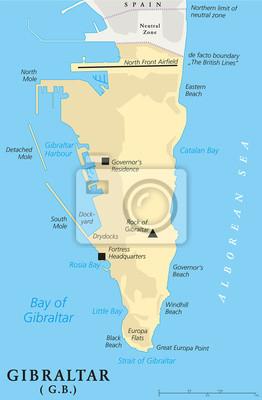 Meerenge Von Gibraltar Karte.Bild Gibraltar Political Map