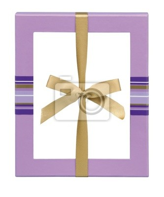 Bild Gift Box With Satin Ribbon Bow isolated on a white