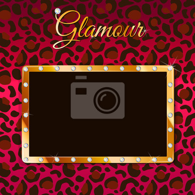 Glamour Vektor-Rahmen mit Leopardenmuster