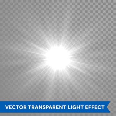 Bild Glänzende und leuchtende Sonne Lichteffekt. Star Explosion Ausbruch