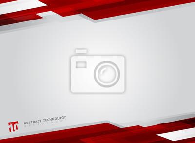 Bild Glänzender Bewegungshintergrund der abstrakten Technologie geometrischer roter Farbe.