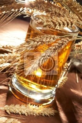 Bild Glas Bier mit Korn