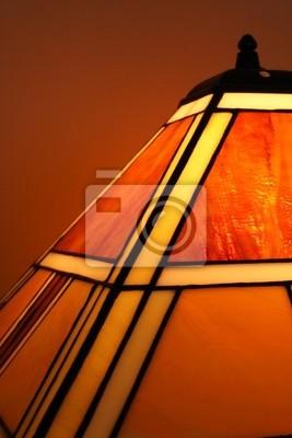 Bild Glasmalerei Lampe close-up