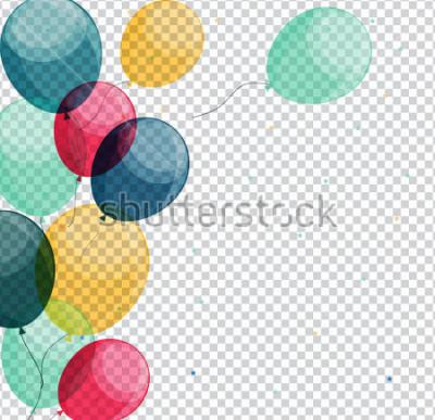 Bild Glatte alles- Gute zum Geburtstagballone auf transparenter Hintergrund-Vektor-Illustration eps10