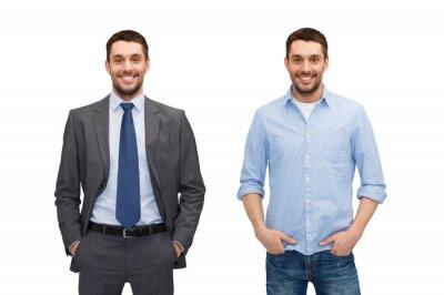Bild Gleichen Mann in verschiedenen Stil Kleidung