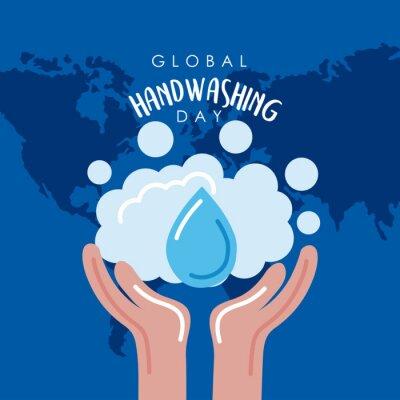 Bild global handwashing day postcard