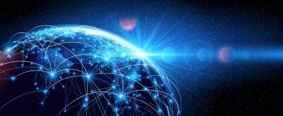 Bild Globales Netzwerk Welt