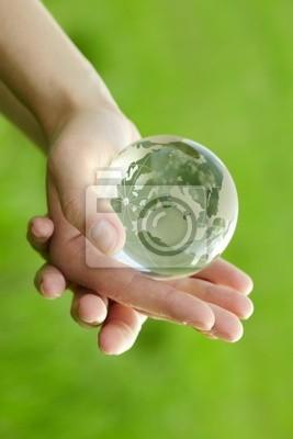 Bild Globe in der Hand