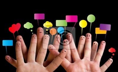 Bild Glücklich Gruppe von Finger Smileys 2
