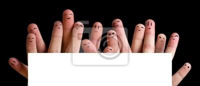 Glücklich Gruppe von Finger Smileys 4