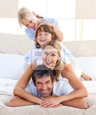 Glückliche Familie Spaß