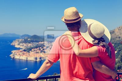 Bild glückliche Paar auf Urlaub in Europa