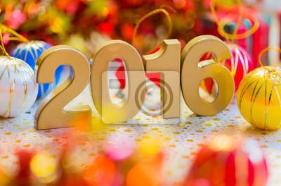 Glückliches neues Jahr 2016 Dekoration