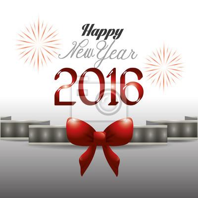 Glückliches neues Jahrentwurf