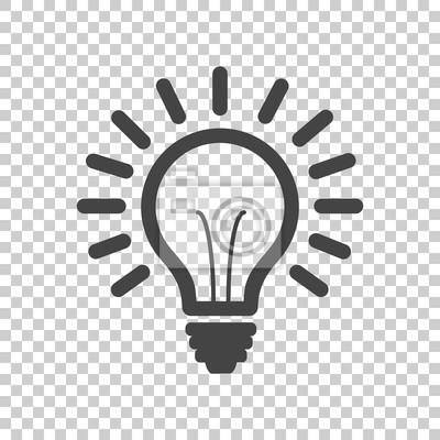 Bild Glühbirne Linie Symbol Vektor, isoliert auf isolierte Hintergrund. Idea Zeichen, Lösung, Denken Konzept. Beleuchtung Elektrische Lampe Abbildung in flachen Stil für Grafik-Design, Website