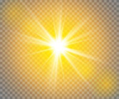 Bild Glühen Sie Lichteffekt. Star platzen mit funkelt.Sun.