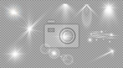 Bild Glühen Sie Lichteffekt. Stern platzen mit Scheinen. Sonnenlicht.