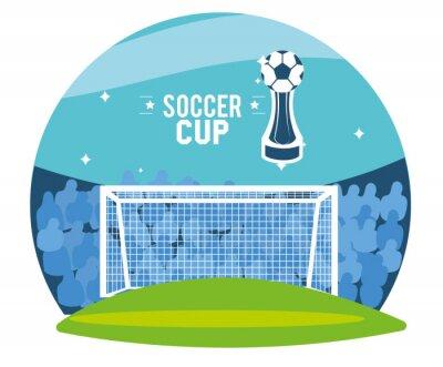 goal in stadium with public vector design
