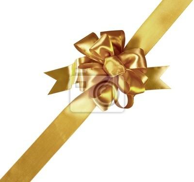 Gold Bow Gift (Clipping-Pfad) (XXL)
