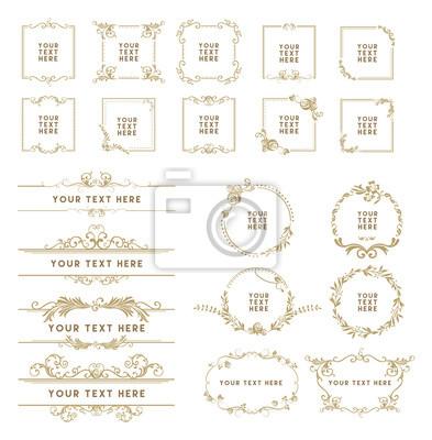 Bild Gold color decorative frame set