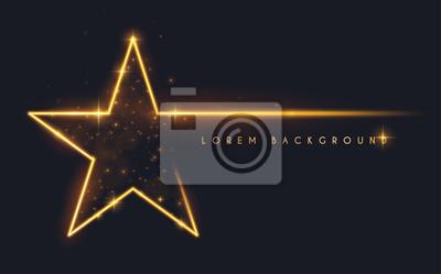Bild Gold glitter star shape background