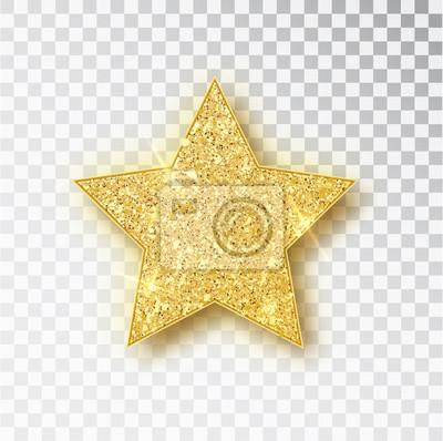 Bild Gold glitter vector star. Golden sparkle luxury design element. Vector particles.