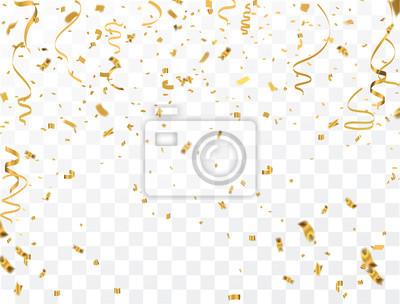 Bild Gold Konfetti Feier