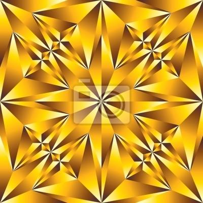 Gold-konvexe Oberfläche nahtlose Muster.
