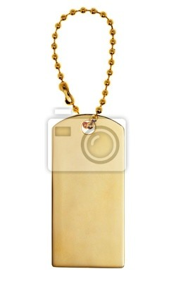 Bild Gold Label or Tag or Charm isolated on white