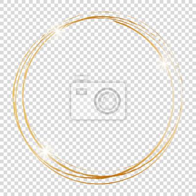 Bild gold round frame on transparent background
