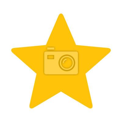 Bild Gold Star oder beliebtes flaches Icon für Apps und Websites