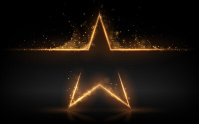 Bild Gold star with glowing sparks effect