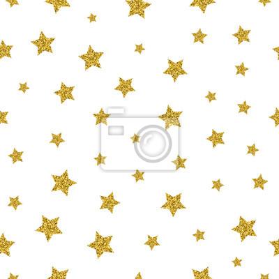 Bild Gold Sterne Vektor nahtlose Muster. Sparkling Sterngold, nahtloser Goldstern, Musterdekoration Sternabbildung