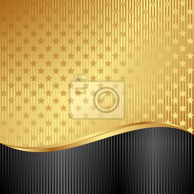 Bild golden background with stars
