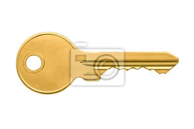 Bild Golden key apartment isolated on white background