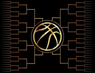 Bild Goldene Basketball-Symbol und Halterung