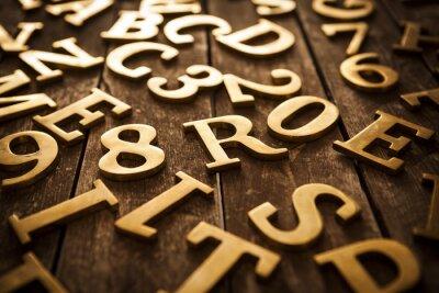 Bild Goldene Buchstaben