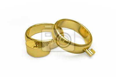 Goldene Hochzeit Ringe Leinwandbilder Bilder Trauung Ehering