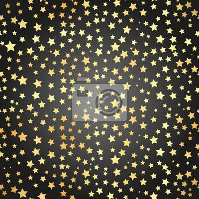 Bild Goldene Stern Nahtlose Muster Abstrakt Schwarz Modern Nahtlose