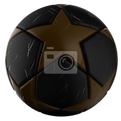 Goldenen Fußball - Fußball mit Stern-Muster - 3D-Darstellung