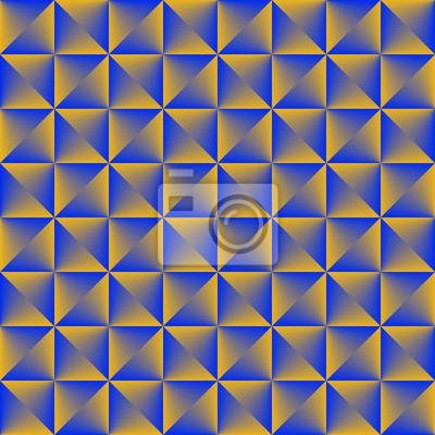 Goldenes blaues gemischtes geometrisches nahtloses Muster.