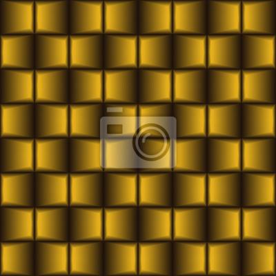 Bild Goldenes braunes gemischtes geometrisches nahtloses Muster.